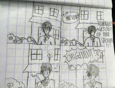 Shower. [APH Comic.] by Ask-Hetalia-Romano