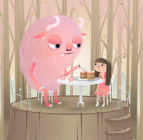 Pink monster by MisterISK