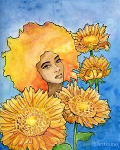 Sunflower by glowmonkey