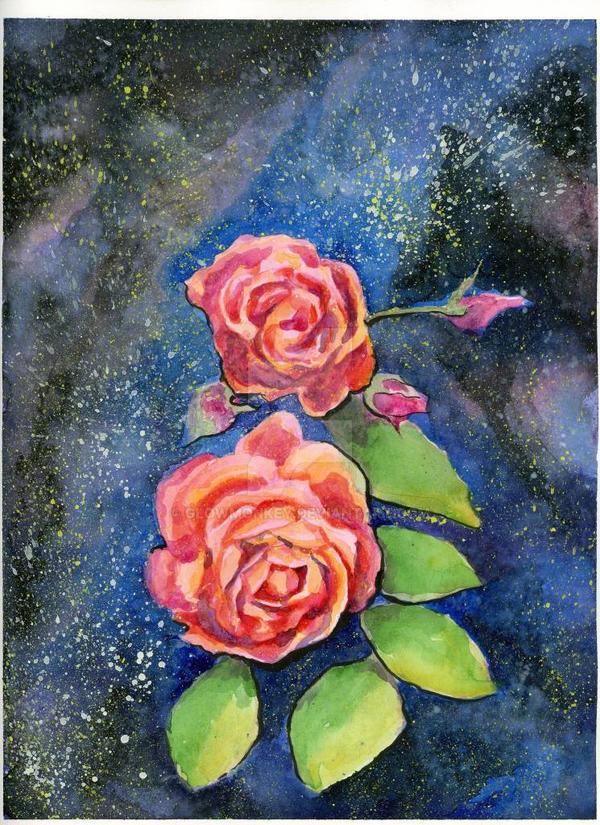 Galaxy Rose by glowmonkey
