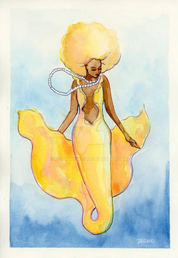 Afro Mermaid by glowmonkey