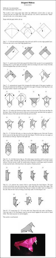 Origami Walrus Instructions