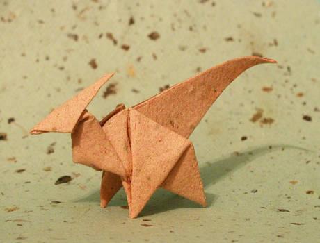 Origami Parasaurolophus