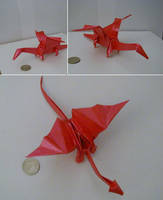 Origami Dragon Design by DonyaQuick