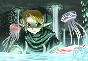 Zelda: Link and Jellies by Dayu