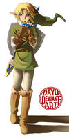 Link playing the ocarina