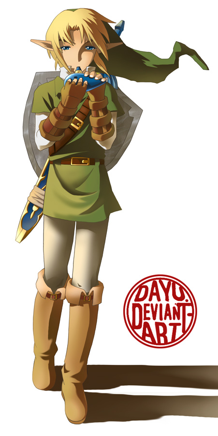 Link playing the ocarina by Dayu