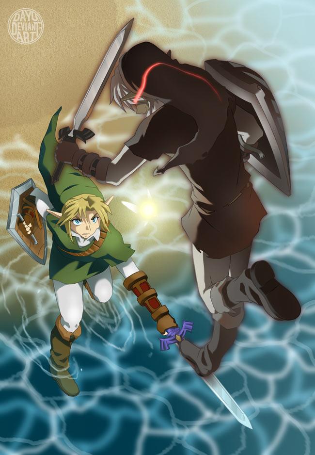 Legend Of Zelda Dark Link Vs Link Zelda Smirk of Dark Link by