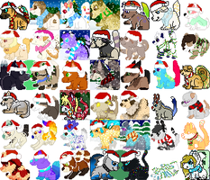 Winter/Christmas icon batch[EDIT 6] by unicorn-tails