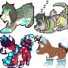 carnivaI YCH icon batch by AusieOtterPie