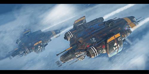 Bomber raid by Ivanuss