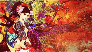Graffiti Tatoo Girl 2