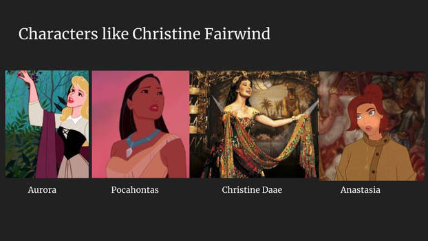 Characters like Christine Fairwind