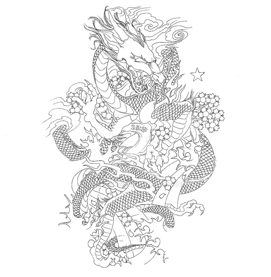 Japanese Dragon Sleeve By Bryguy73