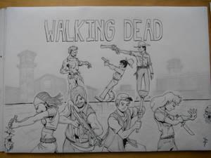Walking dead drawing