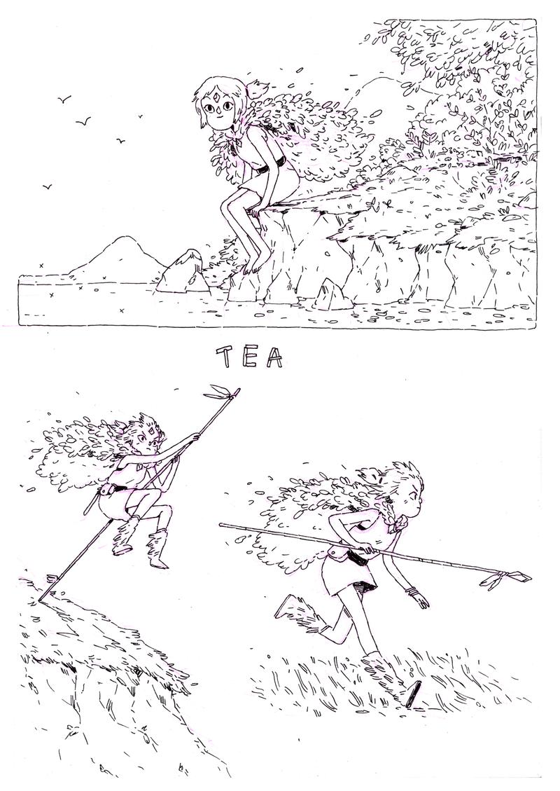 Tea sketches by HannaKN