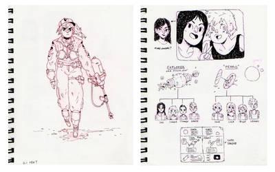 New Frontier Sketchbook 03 by HannaKN