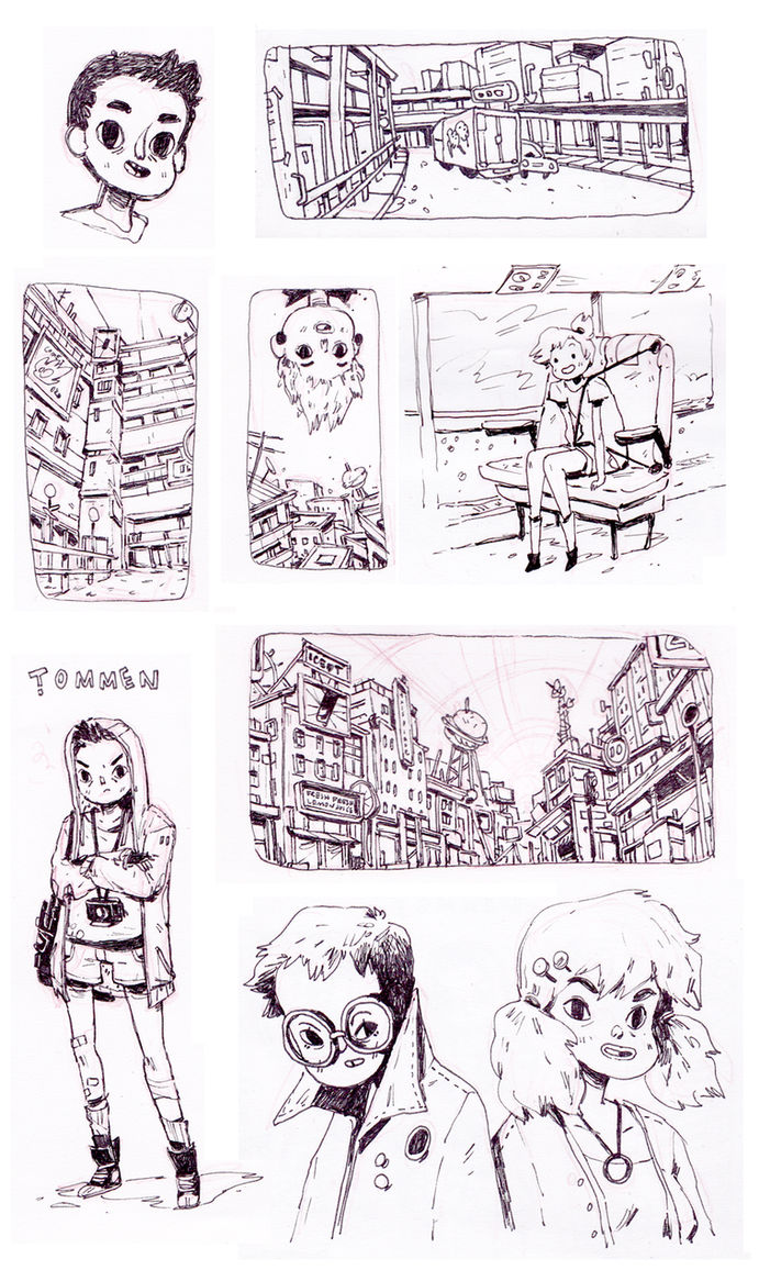 2013 sketches by HannaKN