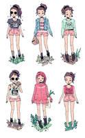 Pink Shorts by HannaKN