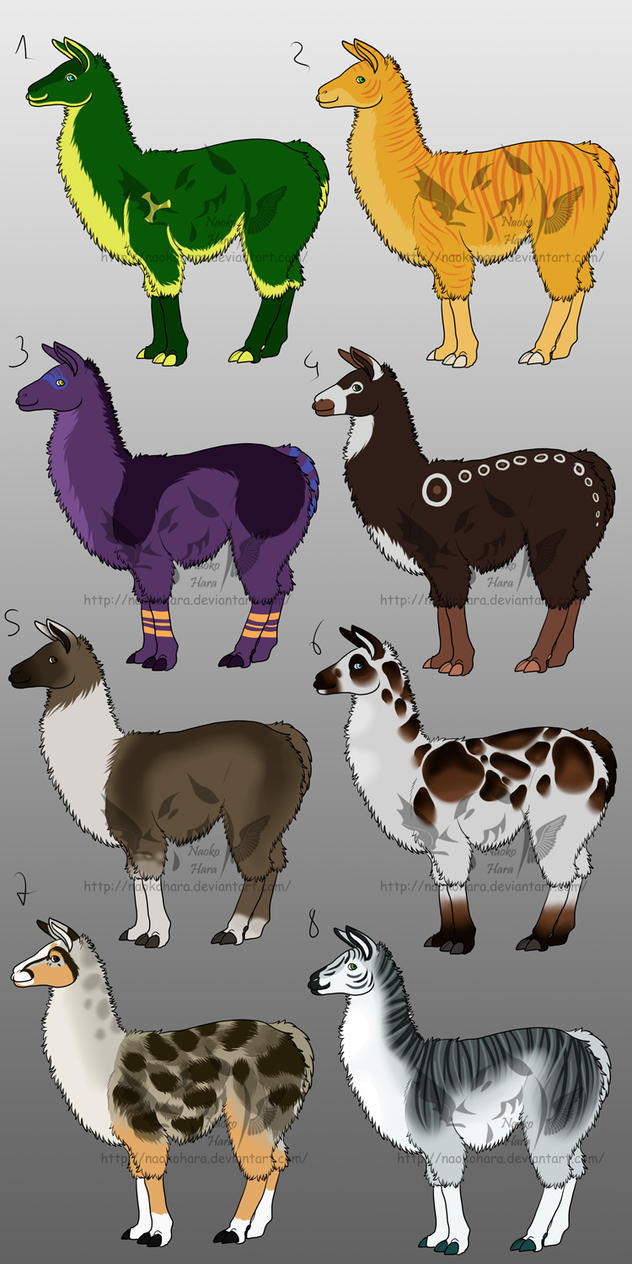 New Llama adoptables (really LAST price cut) OPEN by NaokoHara