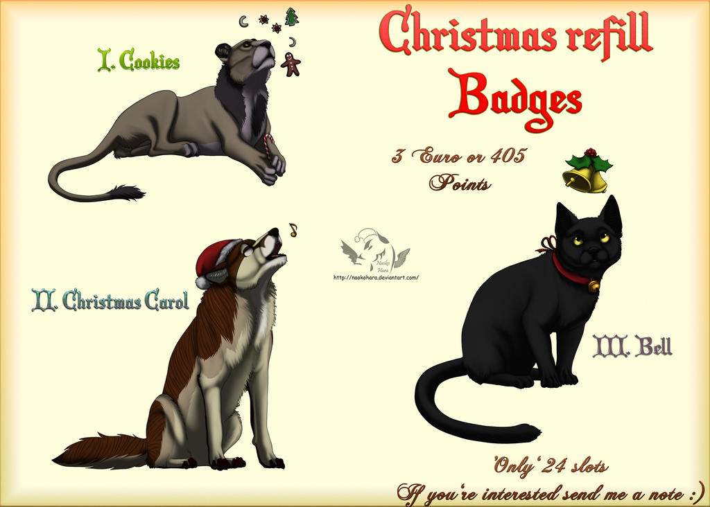 Christmas refill badges - Closed by NaokoHara