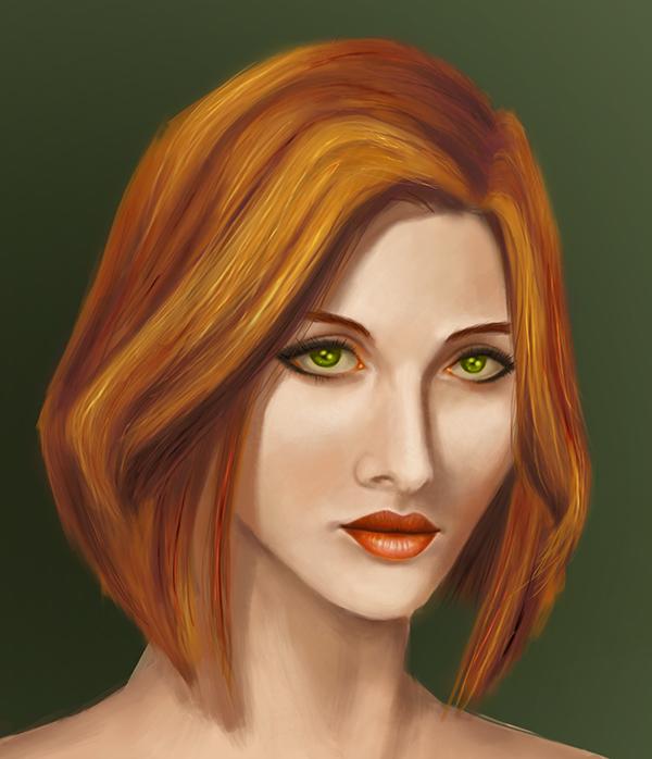 Portrait of Girl by depresedescapist