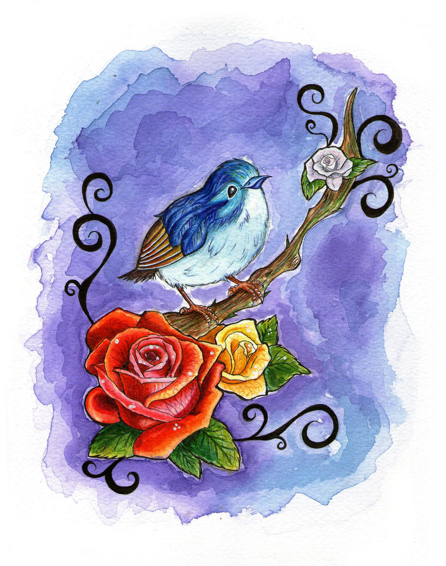 the nightingale as well as the actual rose