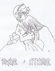 mine and ayame by zidane01