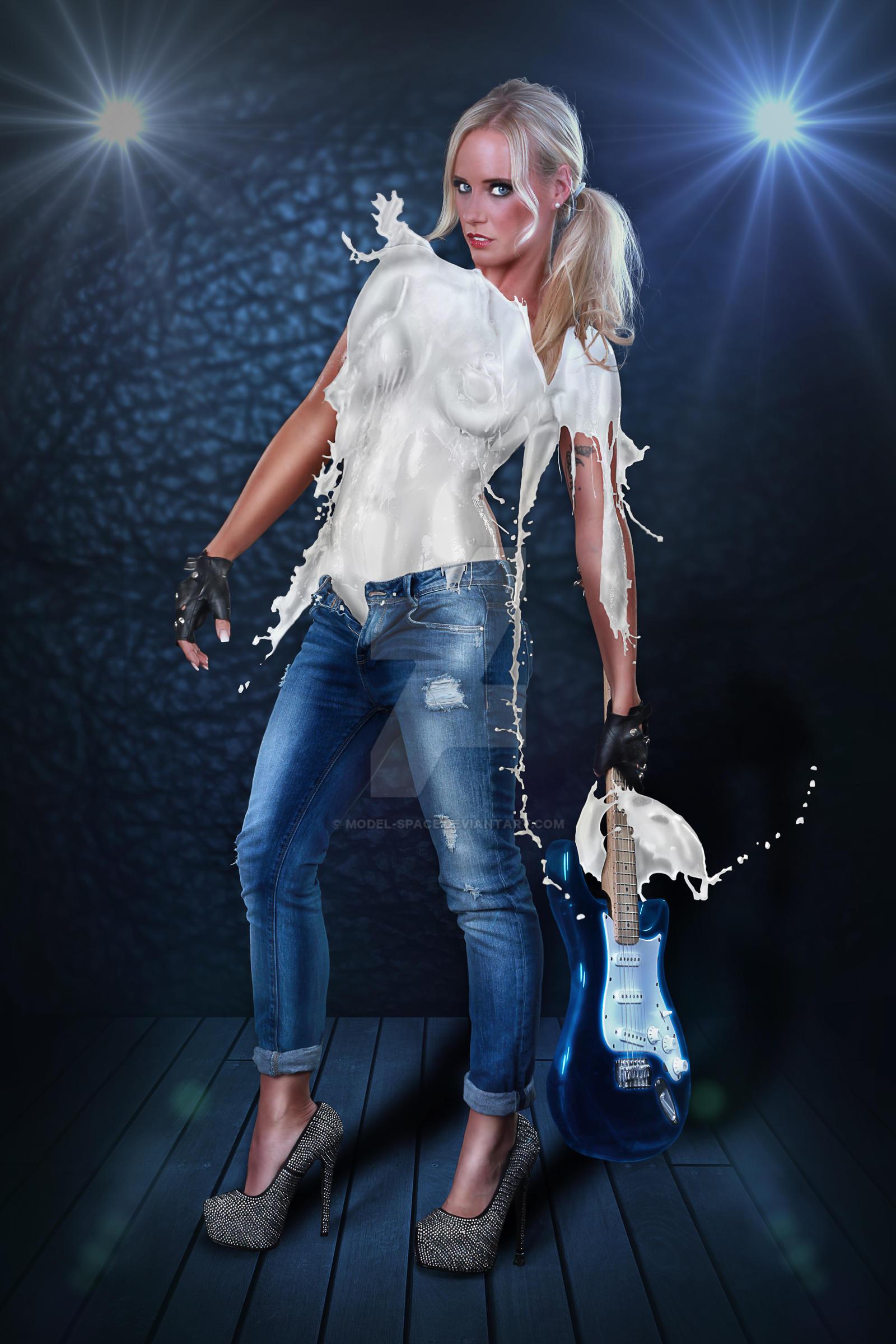 Rockstar Girl Milk Dress Flares By Model Space On Deviantart