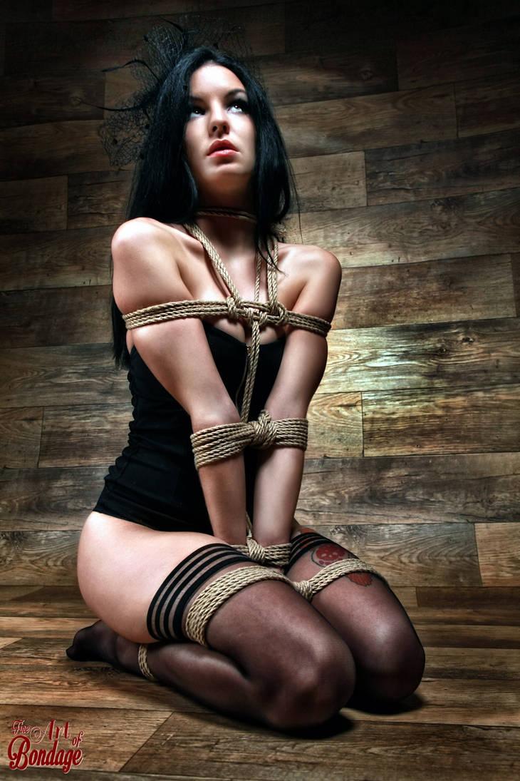 Tied in Lingerie - Fine Art of Bondage by Model-Space ...