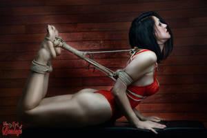 Hogtied in Lingerie - Fine Art Of Bondage by Model-Space