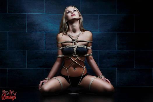 Tied in rope harness - Fine Art of Bondage