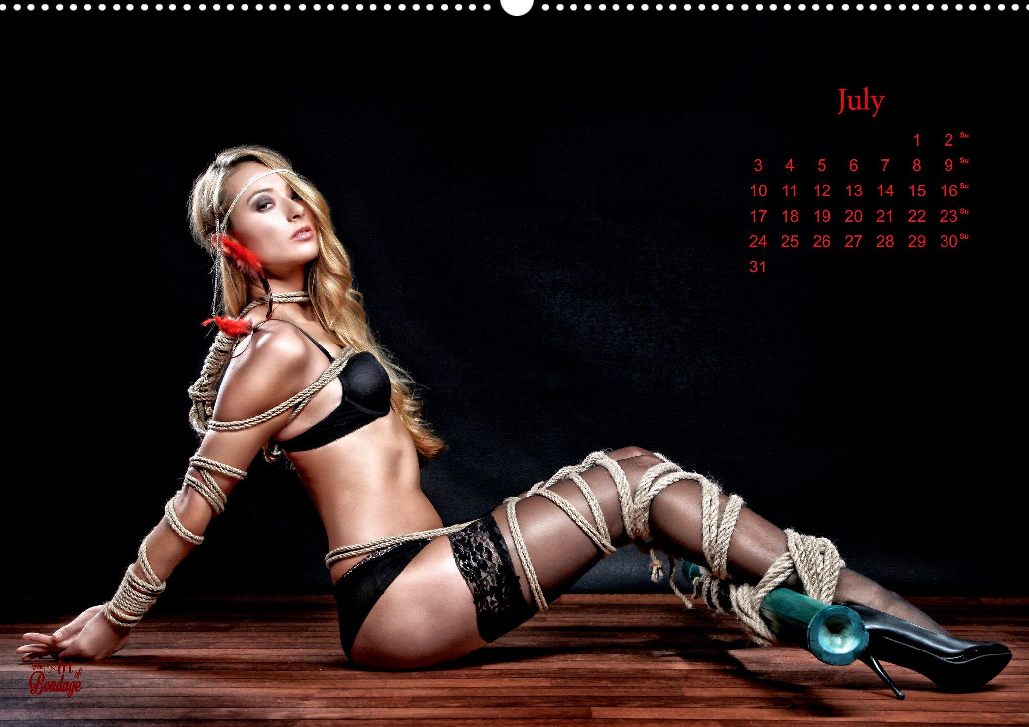 Beauty Of Rope I Fine Art Of Bondage Calendar By Model