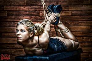 Hogtie - Tied up girl - Fine Art of Bondage by Model-Space