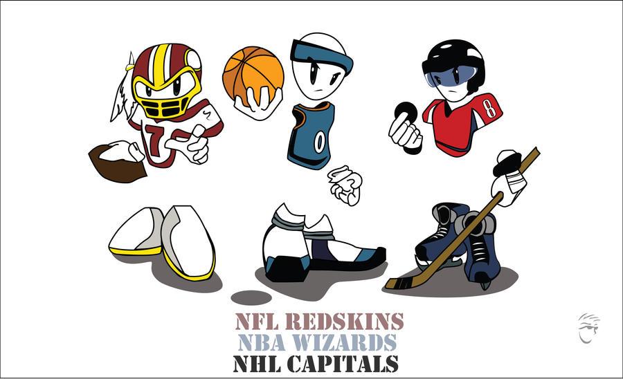 Washington Dc Sports Teams By Surfurdude