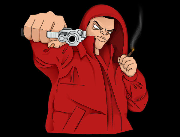 Gangsta by triplikeyedo on deviantart - Blood gang cartoon ...
