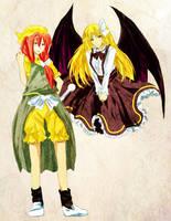 Orange and Kurumi by LiliceKizokuChan
