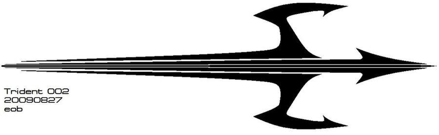 Tattoo Design- Trident 002 by GhostRider2007 on DeviantArt