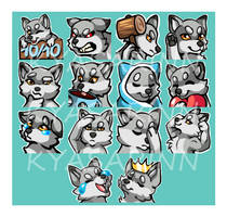Twitch emotes: TheWolfAmnem
