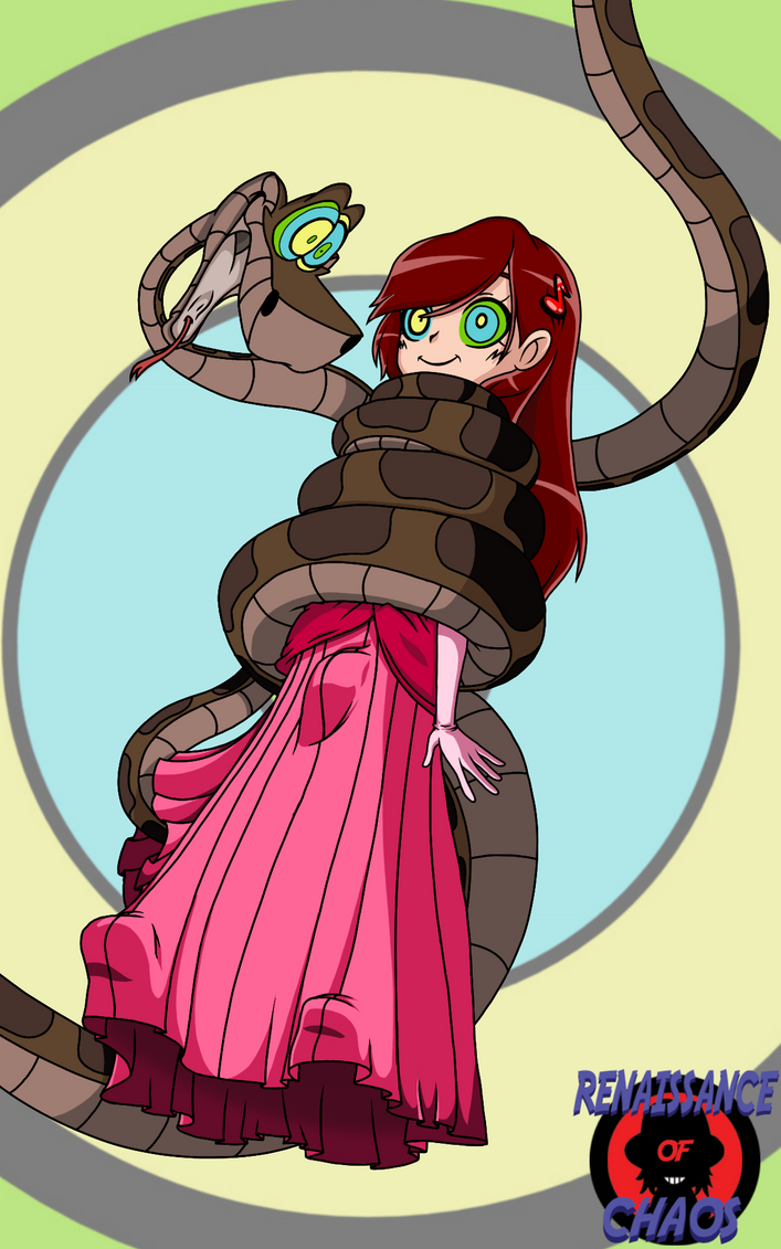 Comm: Kaa and letterabcd's OC by RenaissanceOfChaos