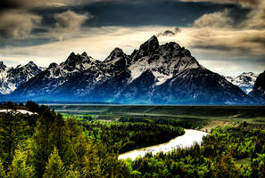 Grand Teton in HDR by fotomachine