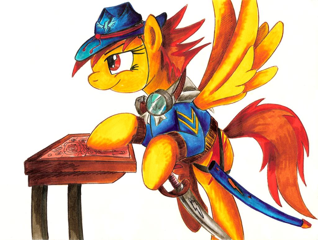 Comission - MLP. Spitfire's plans by jamescorck