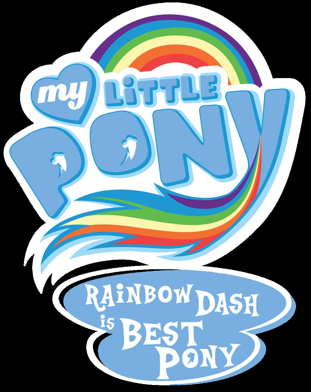 Fanart - MLP. My Little Pony Logo - Rainbow Dash