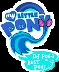 Fanart - MLP. My Little Pony Logo - DJ PON 3