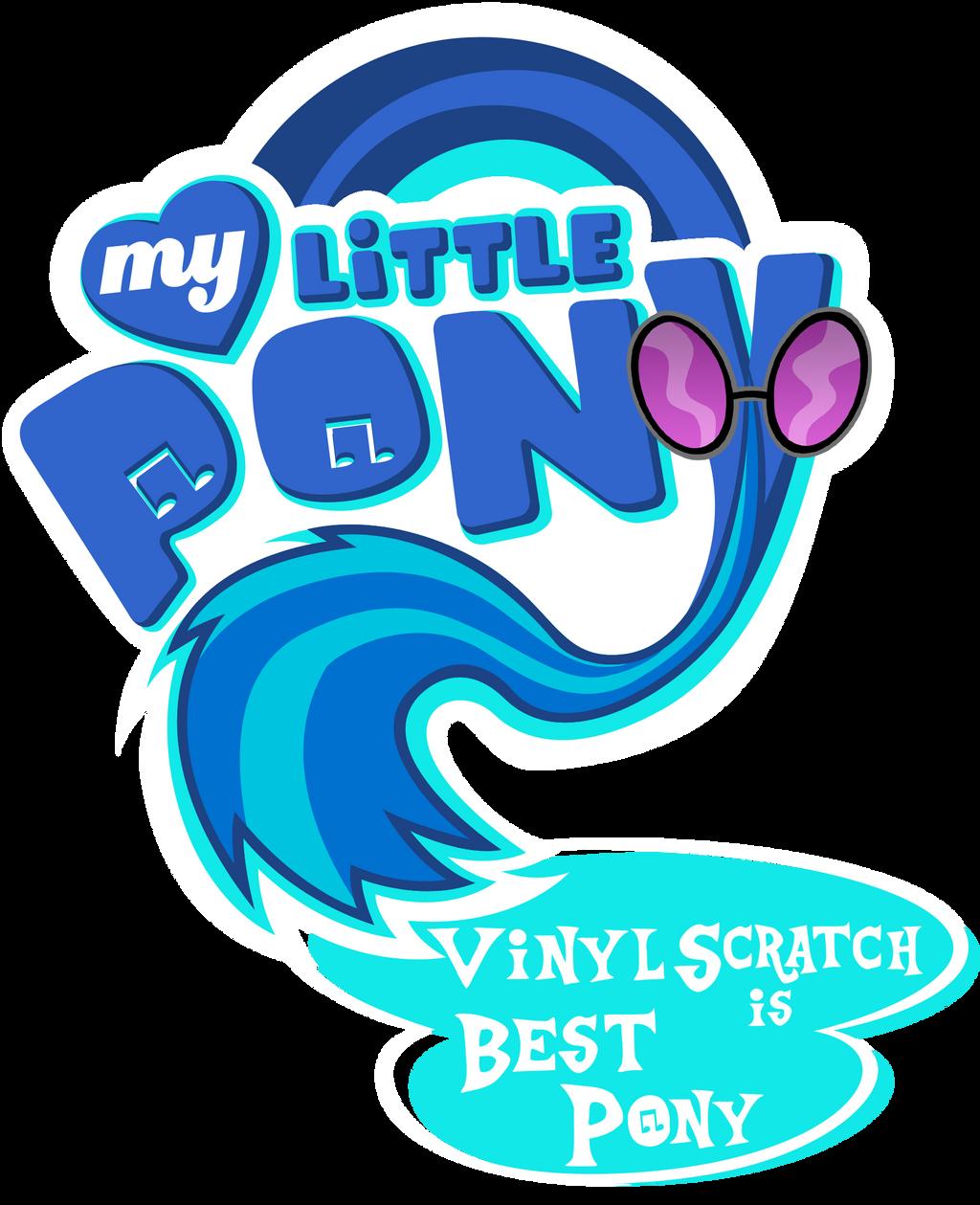 Fanart - MLP. My Little Pony Logo - Vinyl Scratch by jamescorck