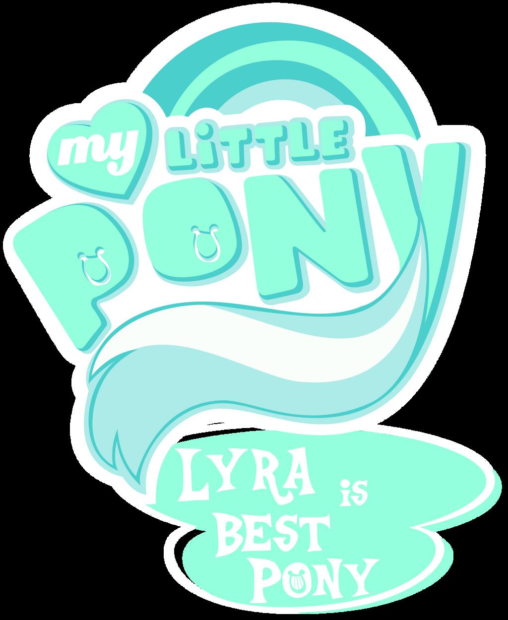 Fanart - MLP. My Little Pony Logo - Lyra by jamescorck