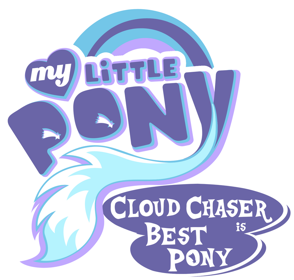 Fanart - MLP. My Little Pony Logo - Cloudchaser by jamescorck