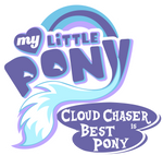 Fanart - MLP. My Little Pony Logo - Cloudchaser by jamescorck