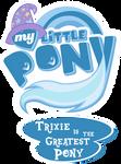 Fanart - MLP. My Little Pony Logo - TGAP Trixie