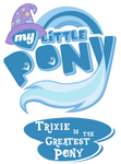 Fanart - MLP. My Little Pony Logo - TGAP Trixie by jamescorck
